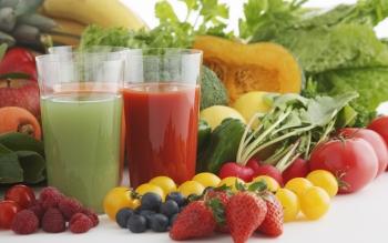 Соки из разных фруктов, ягод, овощей