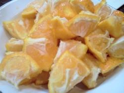 Сок оз апельсинов в блендере