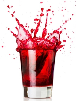Пятна от черешневого сока