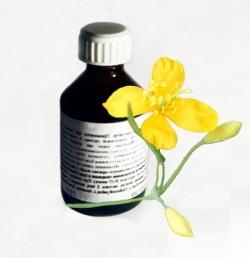Сок из растения чистотел